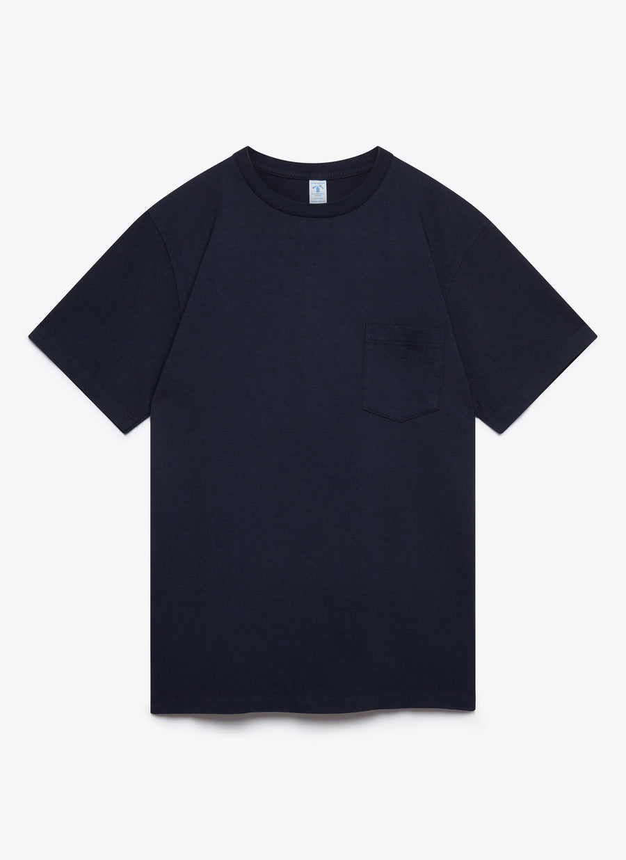 2 Pac Short Sleeve T-Shirt With Pocket - Navy