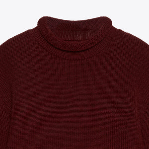 Mini Roll Neck  -  Burgundy