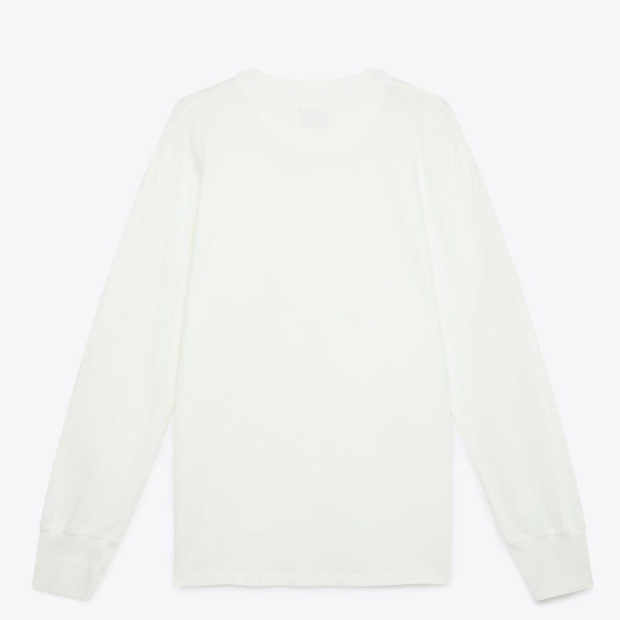 Homespun Knitwear Coalminer Henley - Off White - The Great Divide
