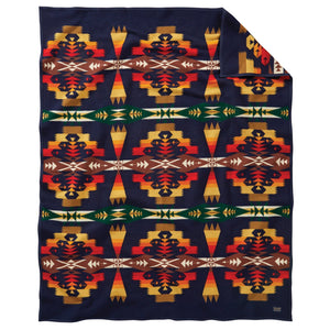 Pendleton Tuscon Blanket - Navy - The Great Divide