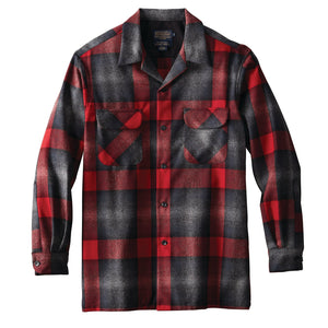 Board Shirt - Black/Grey Mix/Red Ombre