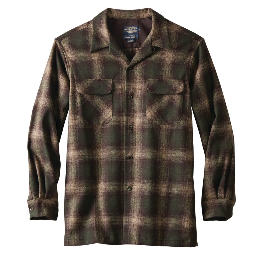 Board Shirt - Brown/Green/Taupe Mix Ombre