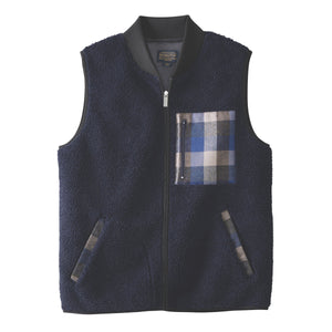 Umatilla Camp Fleece Vest - Dark Indigo Heather