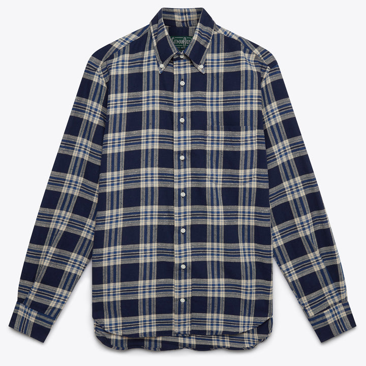 Navy Nep Viyella Button Down