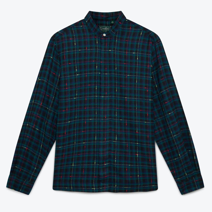 Gitman Vintage Slub Check Shirt Jacket - Fluro Green- The Great Divide