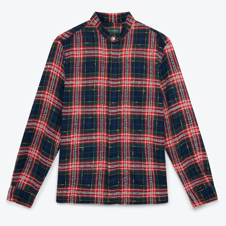 Gitman Vintage Slub Check Shirt Jacket - Fluro Red - The Great Divide