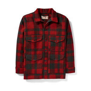 Mackinaw Cruiser Jacket - Red & Black Plaid