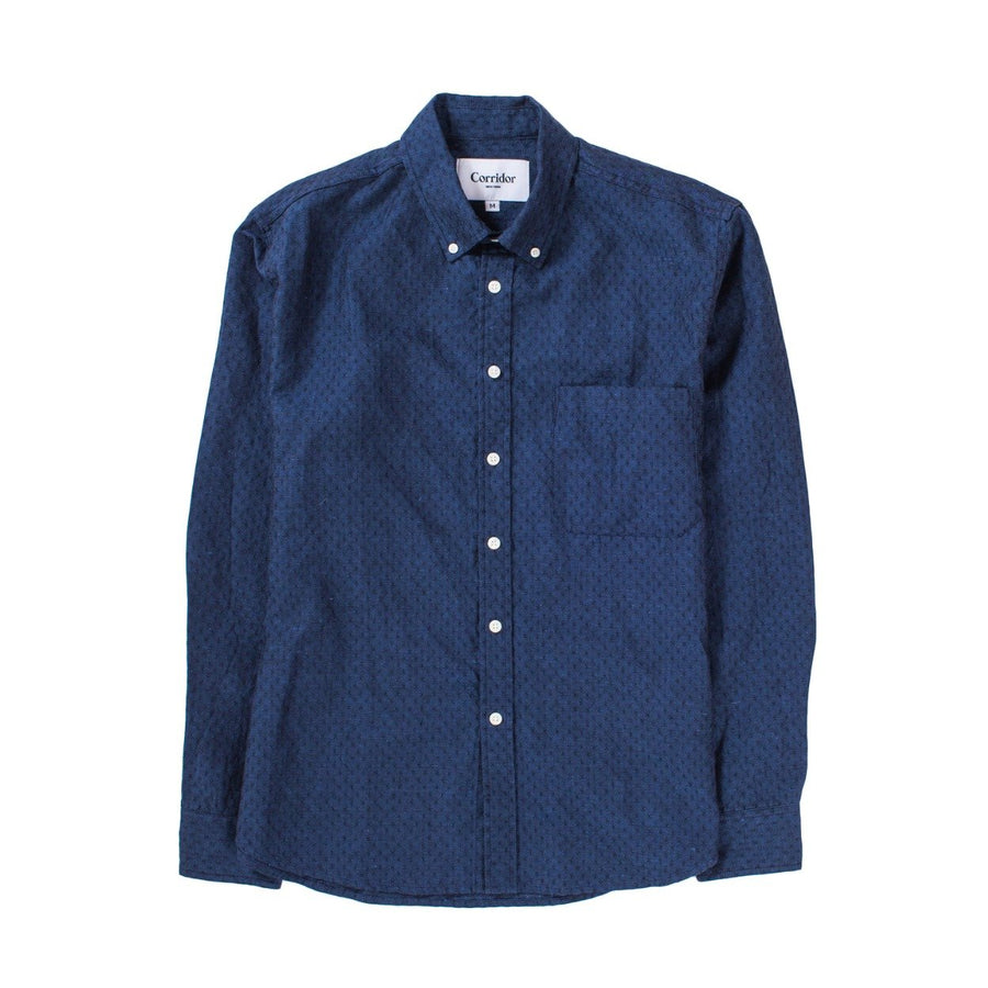 Corridor Enzyme Dobby Linen LS Shirt - The Great Divide