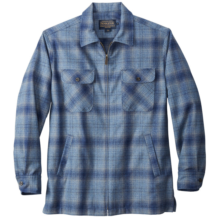Pendleton Brightwood Zip Jacket - Grey / Blue Ombre - The Great Divide