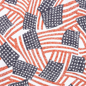 Usa Flag Collage Camp Shirt