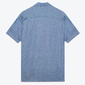 Chambray Linen Camp Shirt