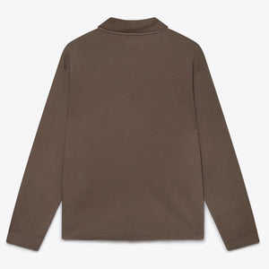 Long Sleeve Placket Polo - Cement