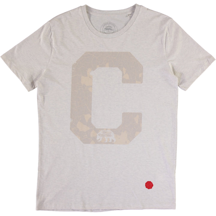 Big C Tee - Cream / Heather Grey