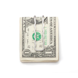 Craighill Wave Money Clip - Steel - The Great Divide