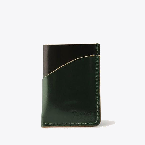 Cordovan Minimal Card Wallet - Discovery Green