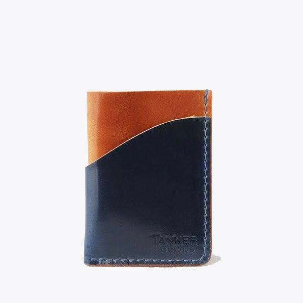 Cordovan Minimal Card Wallet - Navy