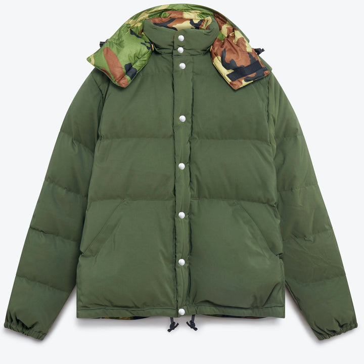 Down Sweater - Olive / Camouflage Ripstop