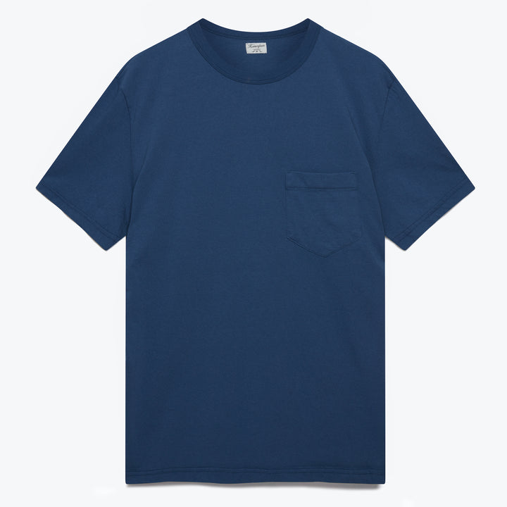 Dad's Pocket Tee - Indigo Fade