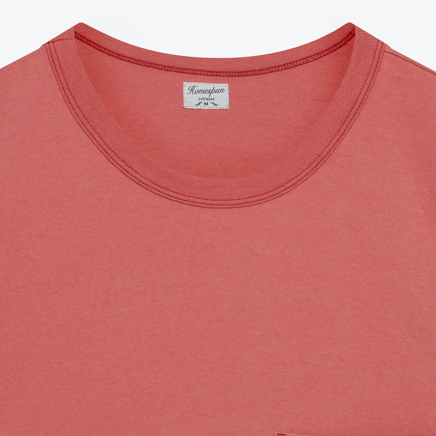 Dad's Pocket Tee - Red Fade