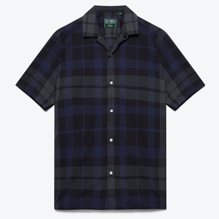 Cotton Madras Camp Shirt