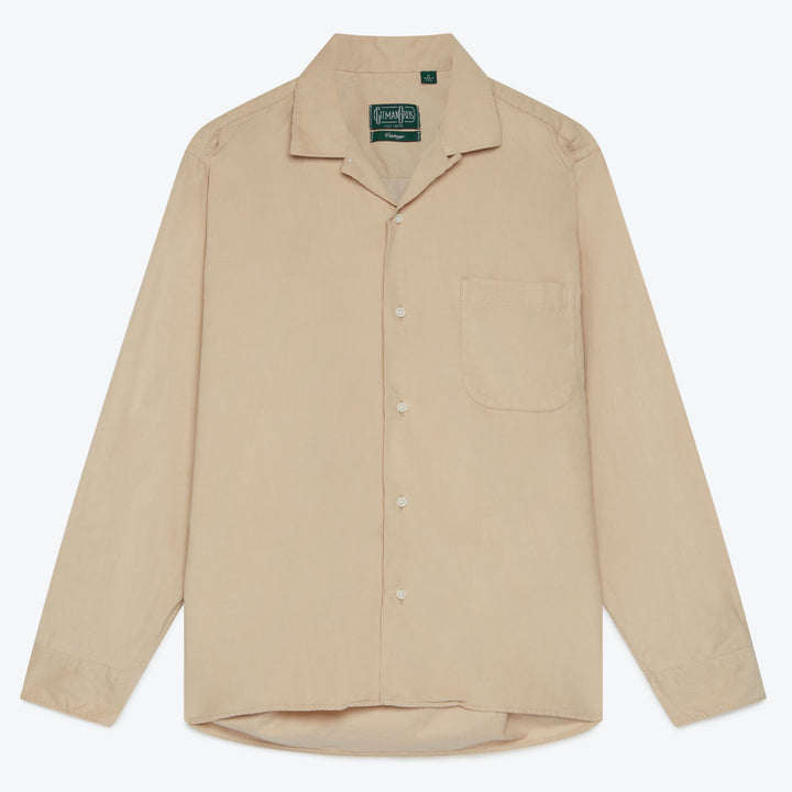 Cord Camp Shirt - Tan