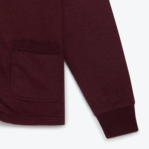 National Athletic Goods Varsity Cardigan - Wine - The Great Divide