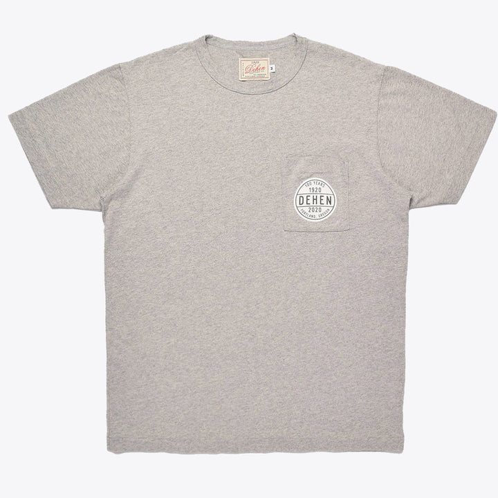 100 Year Pocket Logo Tee - Grey
