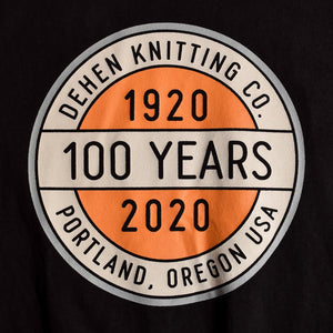 100 Year Chest Logo Tee - Black