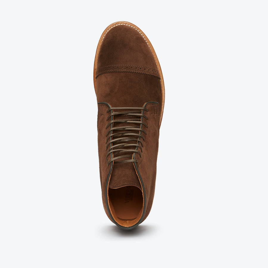 Derby Boots - CF Stead Brown Calf Suede