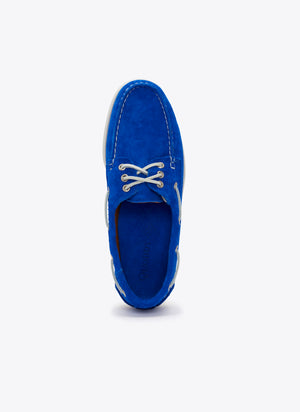 Downeast Boat Shoe - Bright Blue Suede