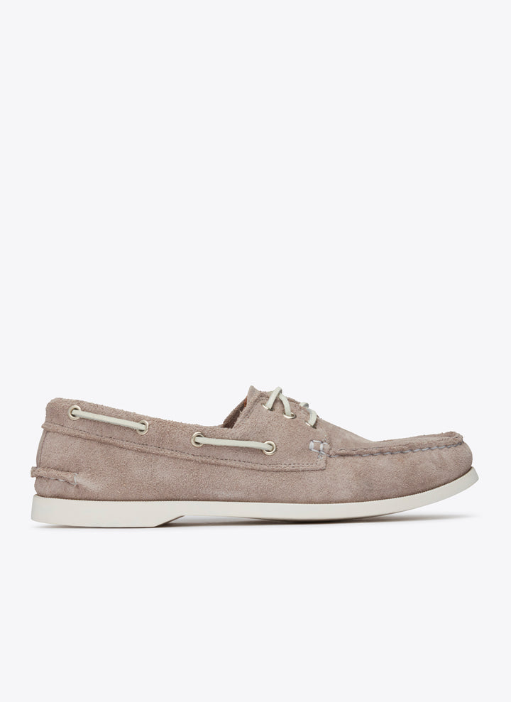 Downeast Boat Shoe - Grey Suede
