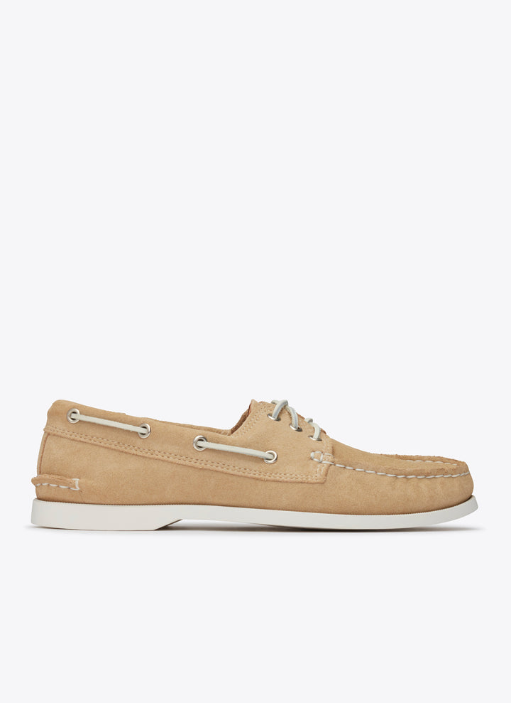 Downeast Boat Shoe- Sand Suede