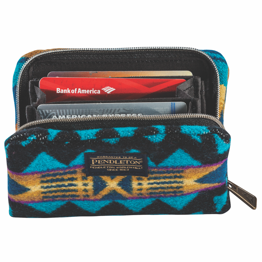 Mini Accordian Wallet - La Paz Turquoise