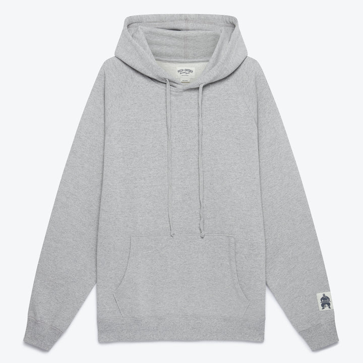 Hooded Raglan Pullover - Grey