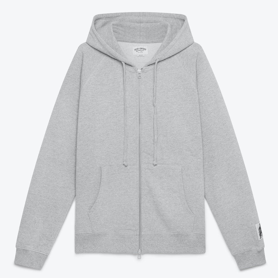 Peck & Snyder Full Zip Raglan Hoodie - Grey - The Great Divide