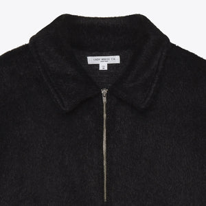 Furry 1/4 Zip Jacket - Black
