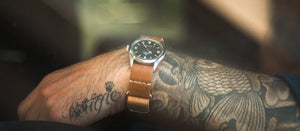 Single Pass Watch Strap - Natural Cordovan