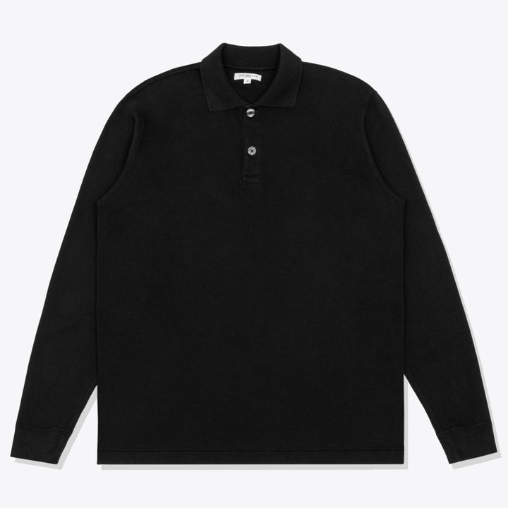 Two Button Polo - Black