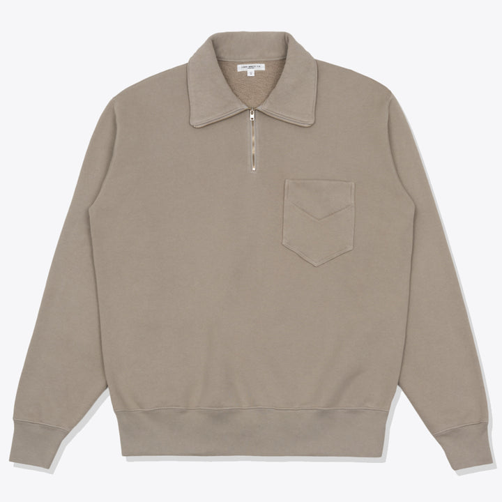 1/4 Zip Pocket - Taupe Fog