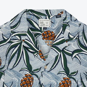 Whacky Pineapple Camp Shirt - Marshmellow