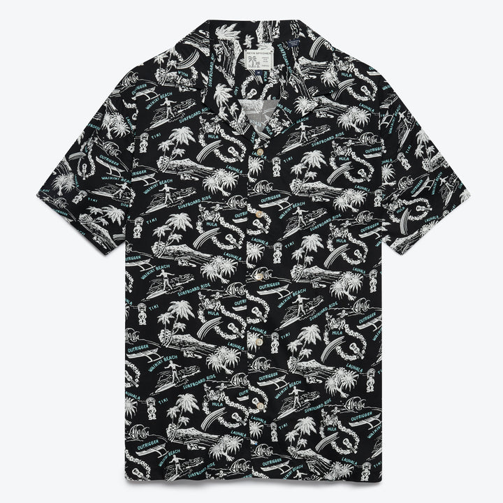 Okole Maluna Camp Shirt - Black Onyx