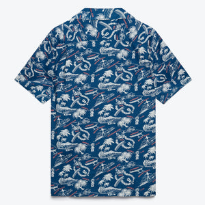 Okole Maluna Camp Shirt - Dark Blue