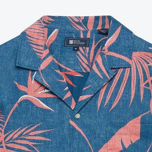 South Pacific Palms Camp Shirt - Dark Blue