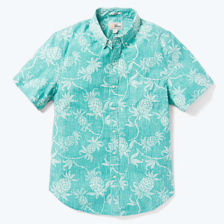 Aloha Welcome Tailored Buttonfront - Teal Blue