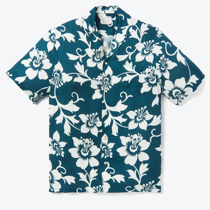 Rain Lily Pareo Camp Shirt - Majolica