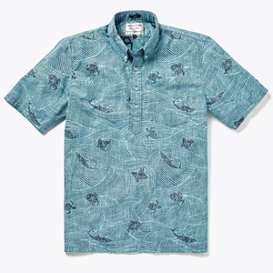 Island Surfrider Pullover - Dress Blues