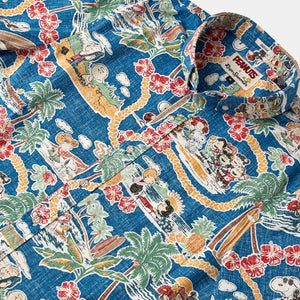 Peanuts in Hawaii Tailored - Dark Blue