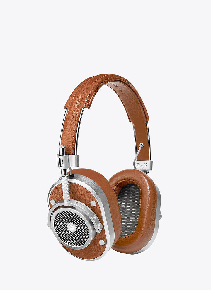 MH40 Wireless Over-Ear Headphones - Silver/Brown