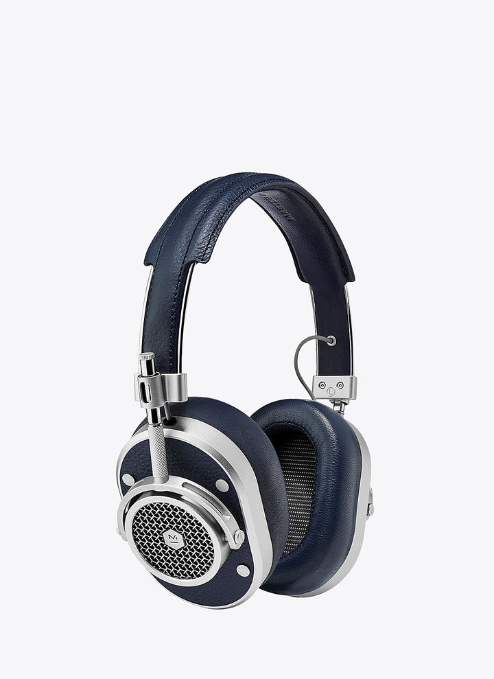 MH40 Wireless Over-Ear Headphones - Silver/Navy