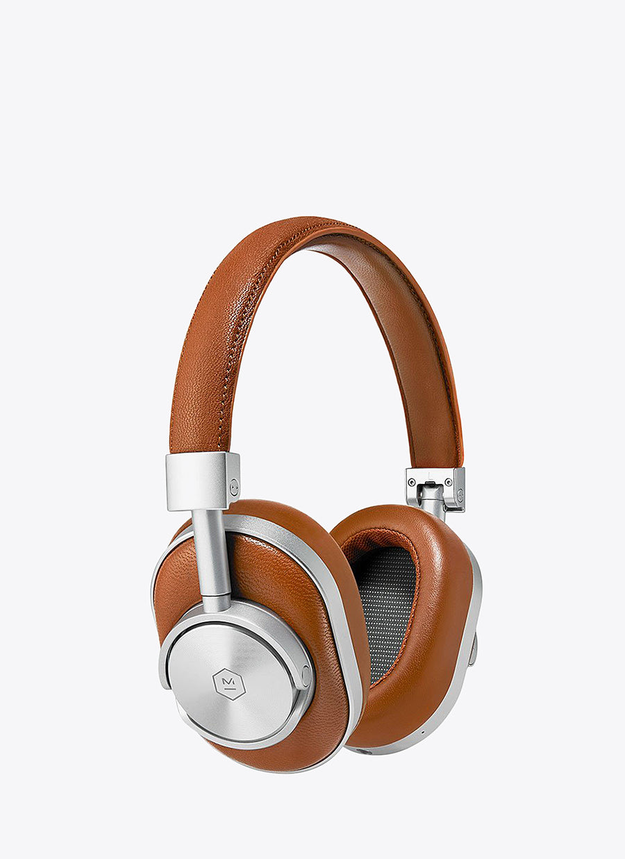 MW60 Wireless Over-Ear Headphones - Silver/Brown